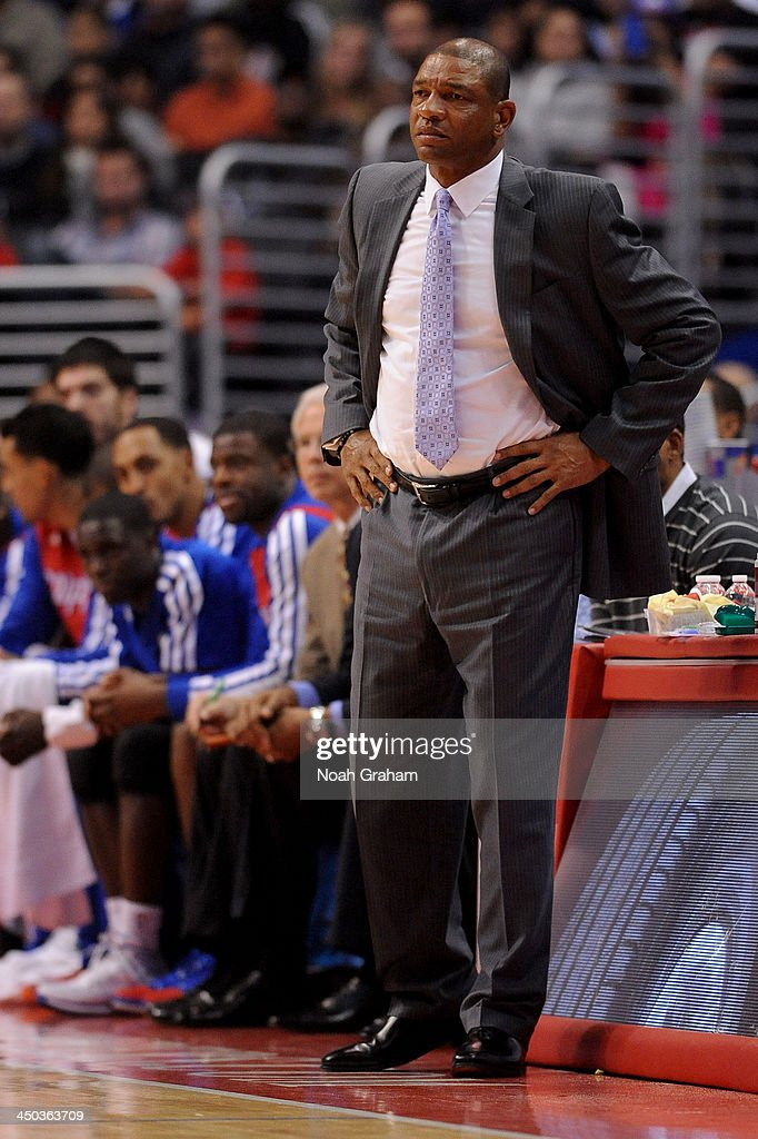 <a gi-track='captionPersonalityLinkClicked' href=/galleries/search?phrase=Doc+Rivers&family=editorial&specificpeople=206225 ng-click='$event.stopPropagation()'>Doc Rivers</a>, Head Coach of the Los Angeles Clippers during a game against the Brooklyn Nets on November 16, 2013 at STAPLES Center in Los Angeles, California.