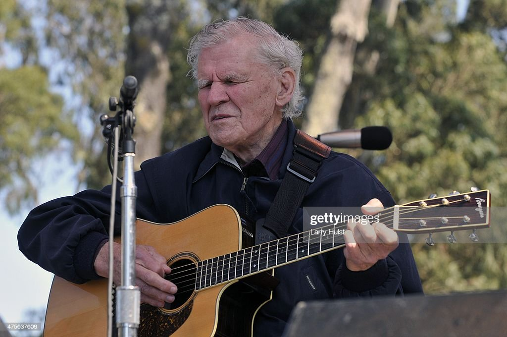 Doc Watson performs at Hardly Strictly Bluegrass festival in Golden Gate Park in San Francisco, California on October 3, 2009.
