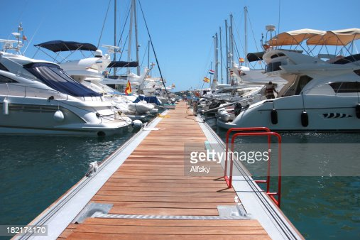 A dock for private yachts and boats