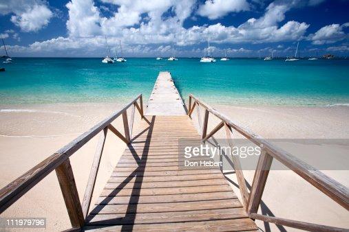 Dock in Grand Case, St. Maarten.