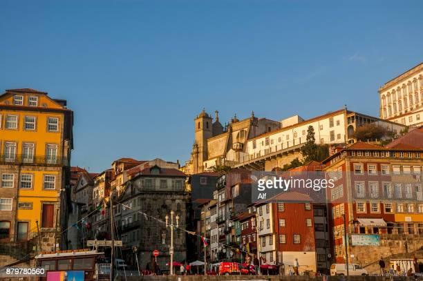 Dock of the Ribera in Porto, Portugal