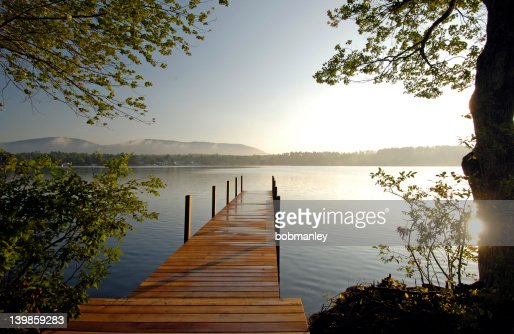 Dock on the Lake : Stock Photo