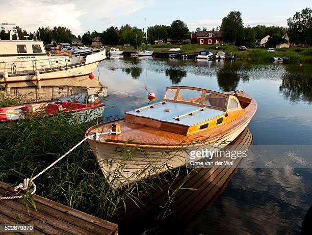 Docked Wooden Boat