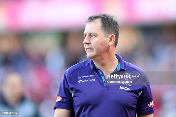 Dockers coach Ross Lyon looks on following the round 21 AFL match between the Sydney Swans and the Fremantle Dockers at Sydney Cricket Ground on...
