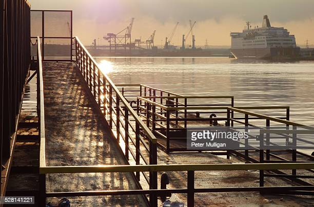 Docklands and ferry, River Tyne, U.K.
