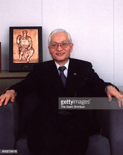 NTT DoCoMo President Keiji Tachikawa poses for photographs during the Asahi Shimbun interview at the company headquarters on January 14 1999 in Tokyo...