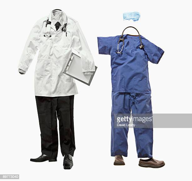 A doctor and nurse outfit