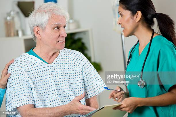 Doctor and patient discuss diagnosis