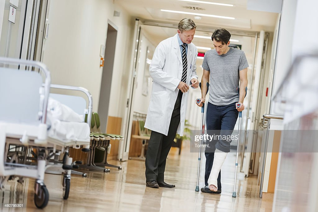 Doctor and Patient in Hospital : Stock Photo