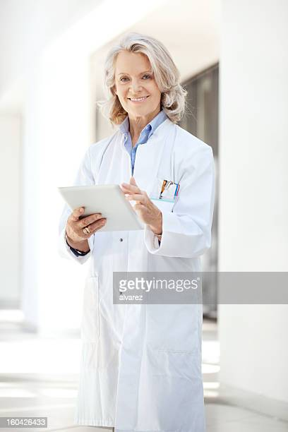 Doctor at the hospital with digital tablet
