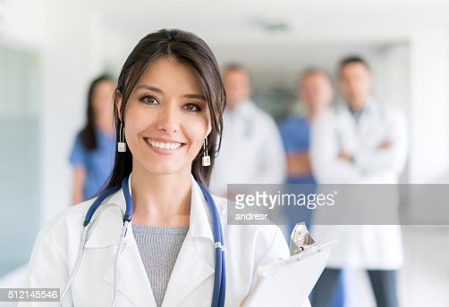 Doctor at the hospital with medical staff