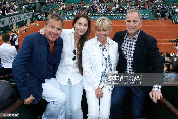 Doctor Bertrand Matteoli and his wife Francisca Matteoli with Chairman and Chief Executive Officer of Louis Vuitton Michael Burke and his wife...