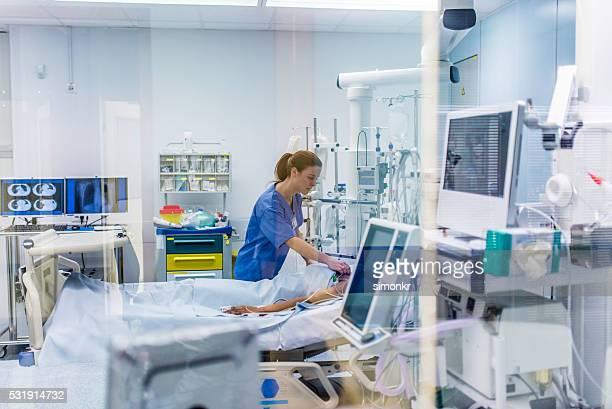 担当医師が患者のチェック