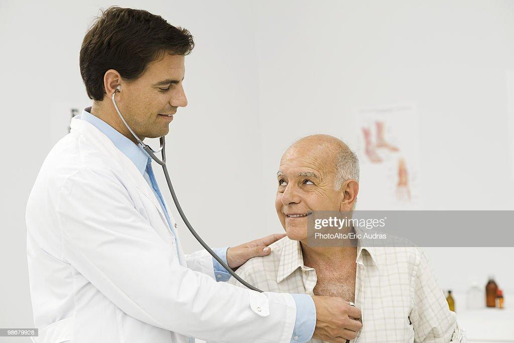 Doctor conducting medical exam
