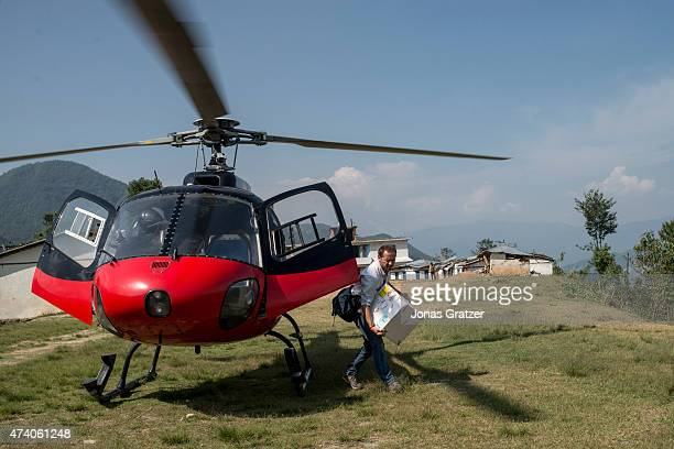 Doctor Dan Sermand and his team from MSF arrive in the remote villages of Jyariko to deliver aid on May 17 2015 in Jyariko Nepal The devastating...