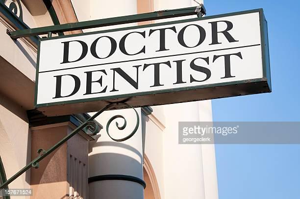 «docteur/dentiste «Panneau