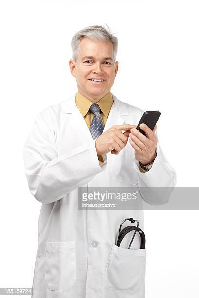 Doctor dictating with Smart Phone