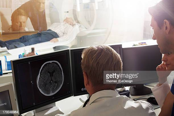 Doctor discussing MRI Scan