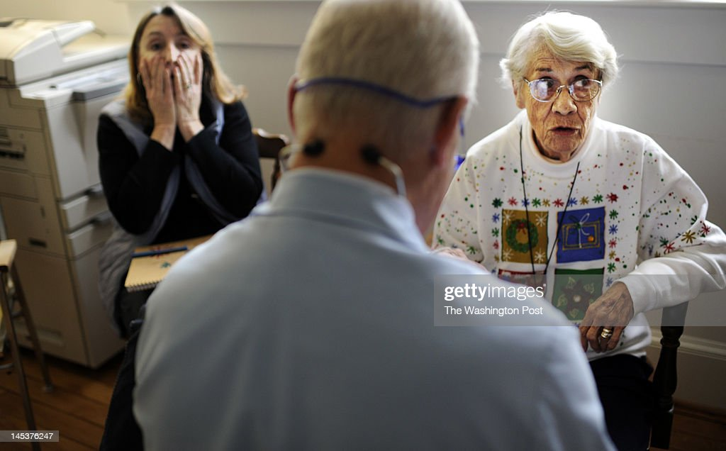 Doctor Emory Lewis gives a memory test to new Medicare patient Helen Kinne 88yearsold while a concerned daughter Deborah Kinne looks on at the family...