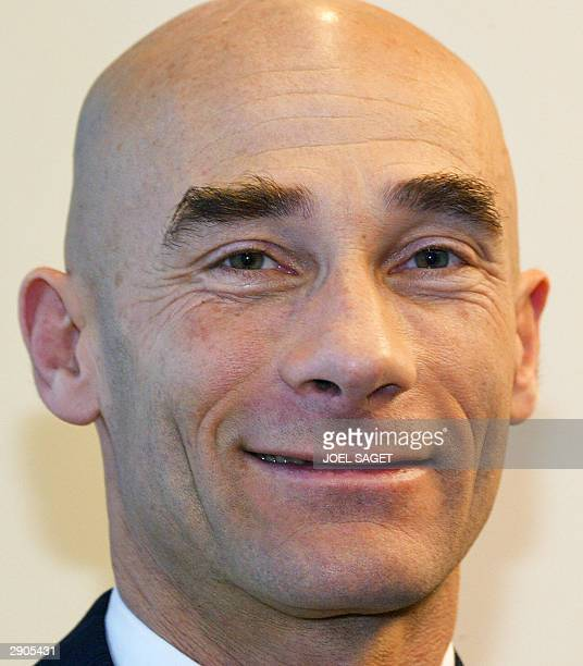 doctor Eric Bouvat of French AG2R cycling team poses during the presentation of his team 27 January 2004 in Paris AFP PHOTO JOEL SAGET