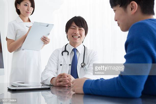 Doctor examine the condition of the patient