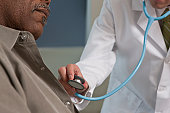 Doctor examining a patient with a stethoscope