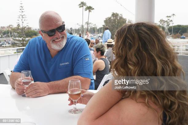 Doctor Frank and Lisa D'Ambrosio are seen at the DoctorFrankcom Memorial Day Yacht Cruise on May 29 2017 in Marina del Rey California