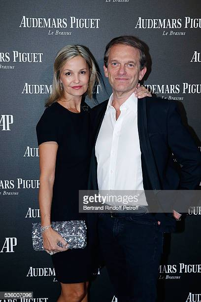 Doctor Frederic Saldmann and his wife Marie attend the Audemars Piguet Rue Royale Boutique Opening on May 26 2016 in Paris France