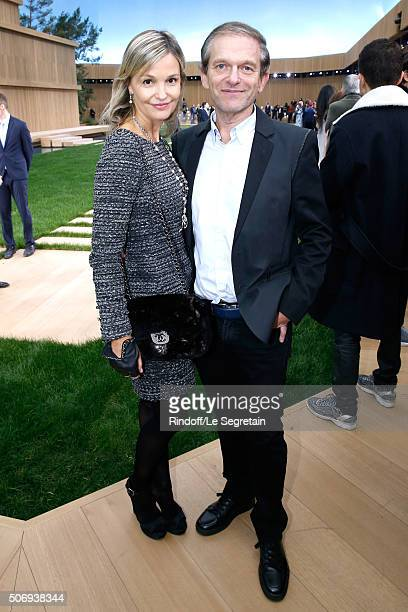 Doctor Frederic Saldmann and his wife Marie attend the Chanel Spring Summer 2016 show as part of Paris Fashion Week on January 26 2016 in Paris France