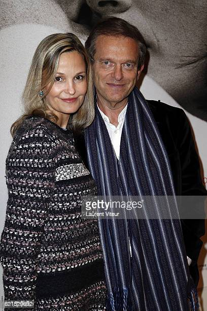 Doctor Frederic Saldmann and his wife Marie attend 'Un Homme et Une Femme' Screening for Its 50th Anniversary at l'Arlequin on November 6 2016 in...