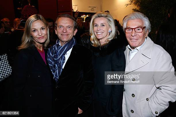 Doctor Frederic Saldmann his wife Marie JeanDaniel Lorieux and his companion Laura Restelli Brizard attend LouisMichel Colla the Director of the...