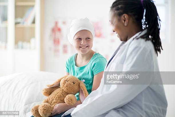 Doctor Giving a Girl a Stuffed Animal