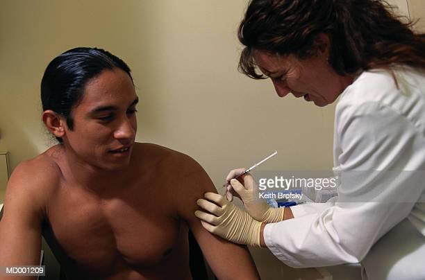 Doctor giving Patient Shot
