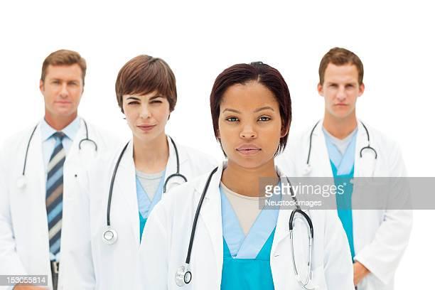 Mediziner-Porträt-isoliert