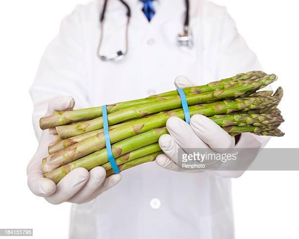 Doctor Holding Asparagus