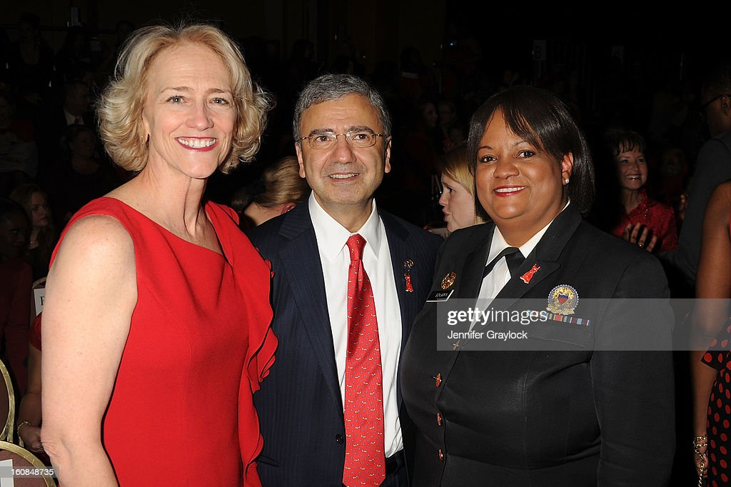 Doctor Janet Wright, Doctor William A. Zoghbi, and U.S. Surgeon General Regina Benjamin attend The Heart Truth 2013 Fashion Show at Hammerstein Ballroom on February 6, 2013 in New York City.