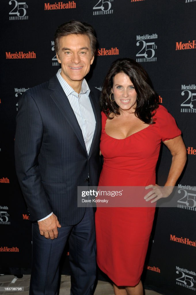 Doctor Mahmet Oz (L) and Lisa Oz attend the Men's Health 25th anniversary celebration at Isola, Mondrian Soho Hotel on October 9, 2013 in New York City.