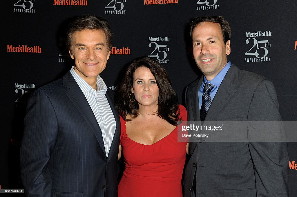 Doctor Mehmet Oz, Lisa Oz and Bill Phillips attend the Men's Health 25th anniversary celebration at Isola, Mondrian Soho Hotel on October 9, 2013 in New York City.
