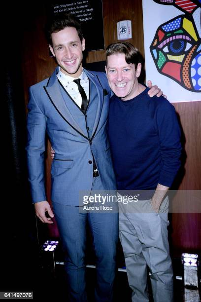 Doctor Mike and Eddie Roche attend The Daily Front Row x LIFEWTR NFYW Opening Night at Kola House on February 9 2017 in New York City