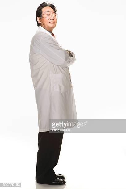 Doctor on white background, portrait