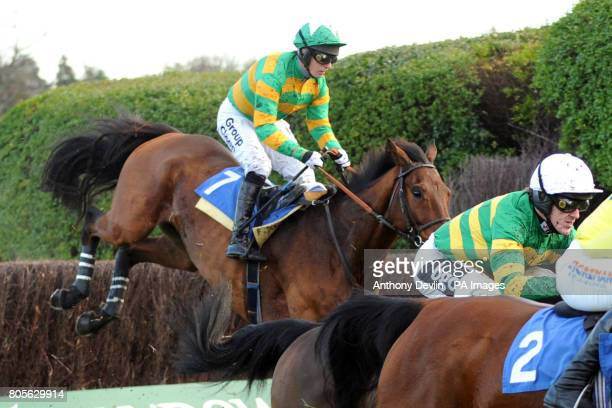 Doctor Pat ridden by Noel Fehily goes on to win the Sign Up Bonus at betinternetcom Novices' Handicap Steeple Chase during Tingle Creek Friday at...