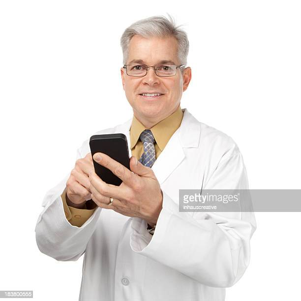 Doctor Pointing To A Smart Phone