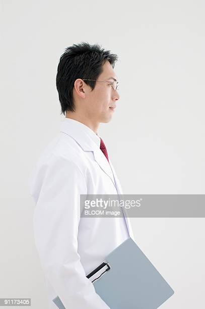 Doctor, portrait, side view