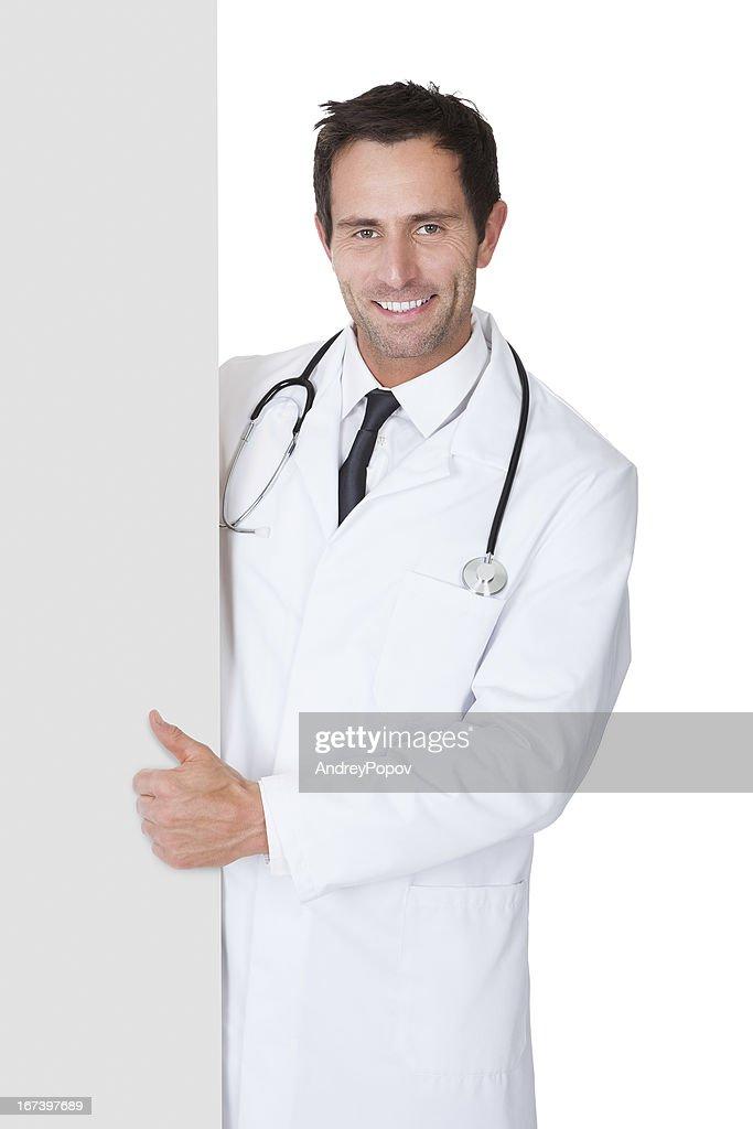 Arzt präsentieren leer banner : Stock-Foto