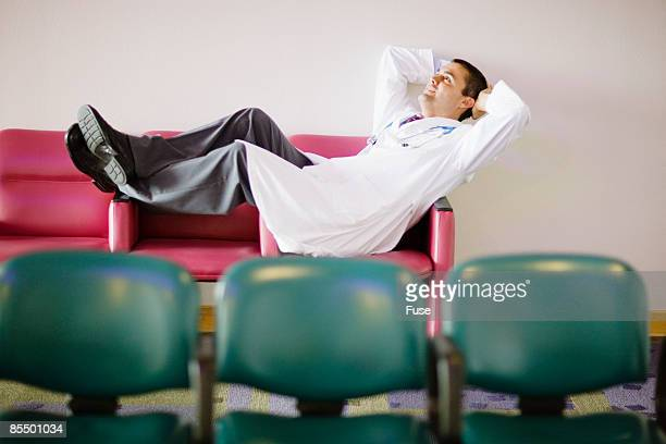 Doctor Reclining on Bench