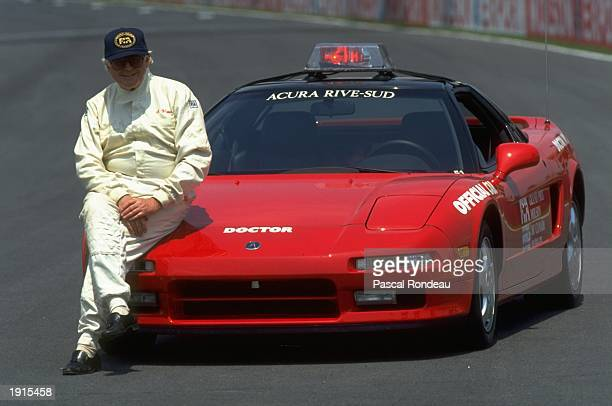 Doctor S Watkins member of the medical team relaxes during the Canadian Grand Prix at the Gilles Villeneuve circuit in Montreal Canada Mandatory...