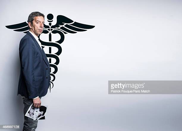 Doctor tv presenter and writer Michel Cymes is photographed for Paris Match on March 14 2015 in IssylesMoulineaux France