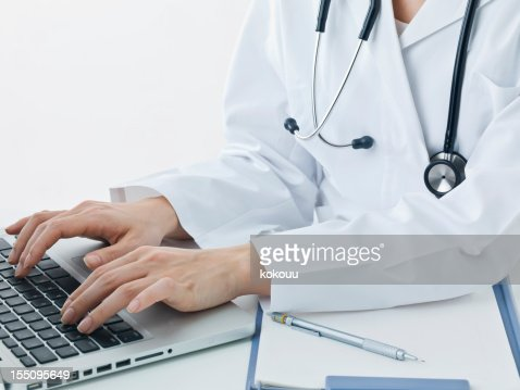 Doctor type on the keyboard