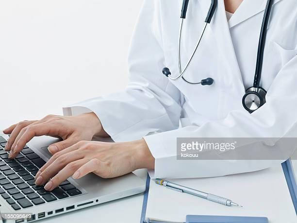 Tipo médico en el teclado