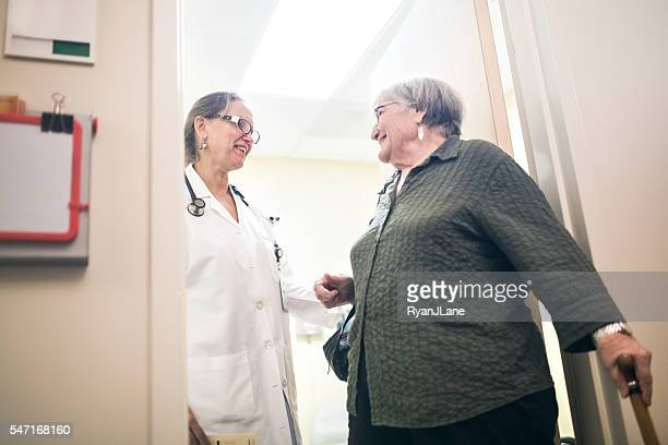 Doctor Visit For Senior Adult Woman